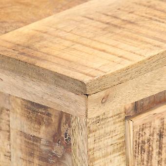 vidaXL Sideboard 65x32x70 cm Mango Massivholz und Naturgeflecht