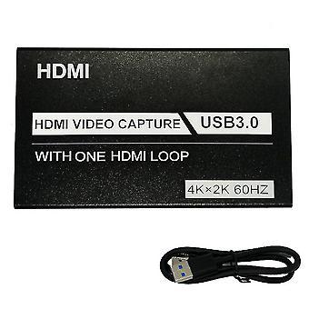 4K usb3.0 hdmi videokaappaus yhdellä hdmi-silmukalla äänimikrofonipelillä live az16415