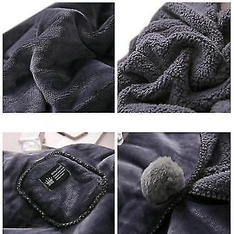 Blanket Shawl Cloak Lazy Blanket Lunch Break Small Blanket(Grey)