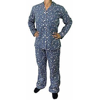 Ladies flannelette pyjama set for women's awo24123
