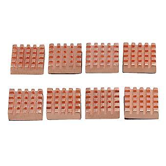 أجهزة الكمبيوتر المكتبية 8pcs الذاكرة النحاسية المصغرة بالوعة الحرارة رام تبريد تبريد التدفئة للكمبيوتر المحمول