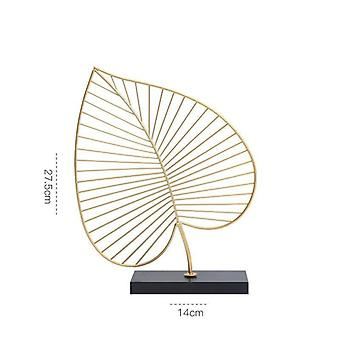 Home decor light luxury  leaf decoration for table tops
