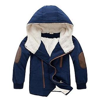 Winter Plus Fleece Warm Jacket, Cotton Thick Hooded Coat
