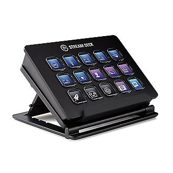 Numeric keypads stream deck - live content creation controller with 15 customizable lcd keys  adjustable stand  for