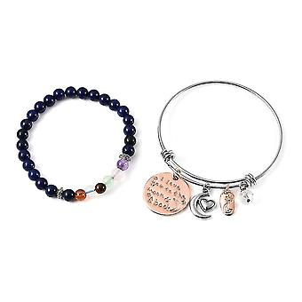 TJC Stretchable, Charm Jewellery Set for Women 7.5 '' Multiple Gemstone 55.5ct
