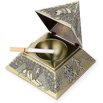 Winddichter Aschenbecher im Vintage-Stil, mit Deckel Pyramide Design Tisch Aschenbecher für Hotel Ktv Coffee Shop