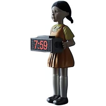Squid Game Alarm Clock, Red Light ,123 Wooden Man Alarm Clock Ornaments, Horror Sound