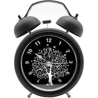"3"" Quiet Non-ticking Silent Quartz Analog Vintage Bedside Twin Bell Alarm Clock(wishing Tree)"