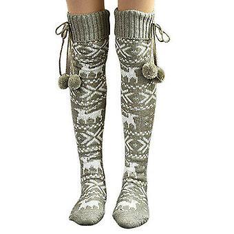 Women Thigh High Socks Over The Knee Autumn Long Leg Warmer Stockings