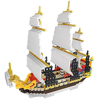 Pellet seilbåt montert byggekloss leketøy