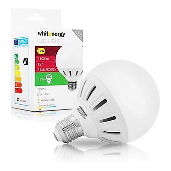 Whitenergy E27 LED G95 Screw Fit Light Bulb 12W 175-250V - White Warm