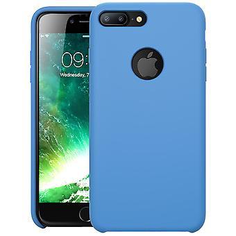 i-Blason-iPhone 7 Plus Case, Silicone Flexible Shock Case-Blue
