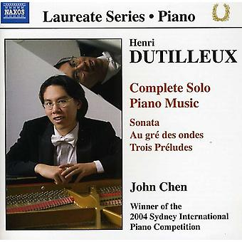 H. Dutilleux - Henri Dutilleux: Komplette Solo-Piano-Musik [CD] USA import