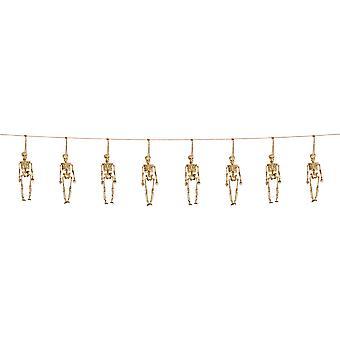 3D Halloween guirlande décoration 10m squelettes horreur squelette de chaîne