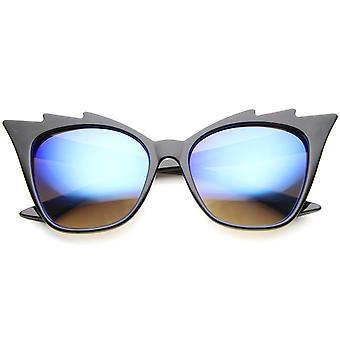 Naisten Cat Eye aurinkolasit UV400 suojattu peilattu linssi