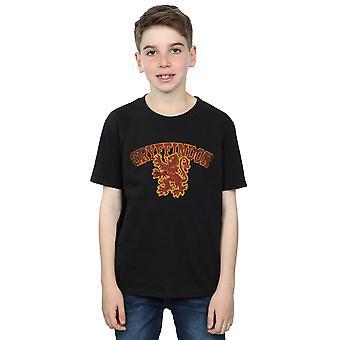 Harry Potter Boys Gryffindor Spor Amblem T-Shirt