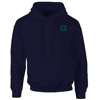 Queens Royal Lancers gestickte TRF Logo - offizielle britische Armee Hoodie Sweatshirt mit Kapuze