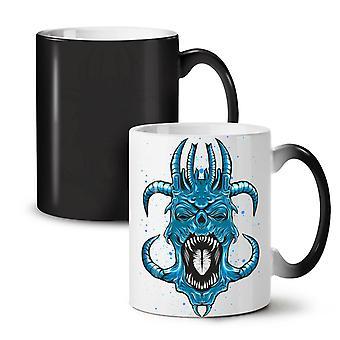 Blue Satan Horror Fantasy NEW Black Colour Changing Tea Coffee Ceramic Mug 11 oz | Wellcoda