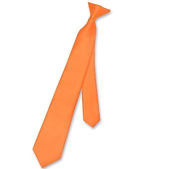 Vesuvio Napoli guttens klips slips Solid ungdom halsen slips