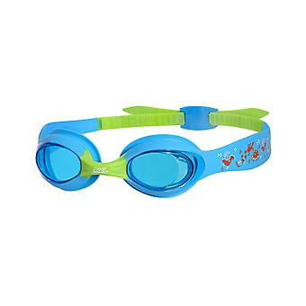Zoggs Little Twist Swim Goggles 0-6 Years - Tinted Lens - Blue/Green