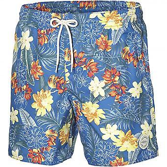O'Neill Bondi kwiatowy wydruku pływać szorty, niebiesko pomarańczowy