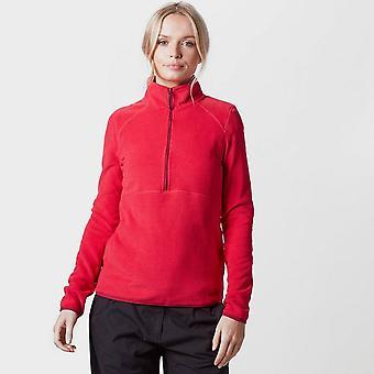 Nieuwe Peter Storm vrouwen gestreepte half Zip Fleece roze