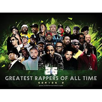 25 Greatest Male Rapper aller Zeiten Poster (Serie 2) (24 x 18)