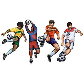 Футболисты картона вырез (4 в пакет)