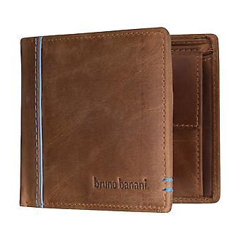 Bruno banani heren portemonnee wallet portemonnee Cognac/blauw 5330
