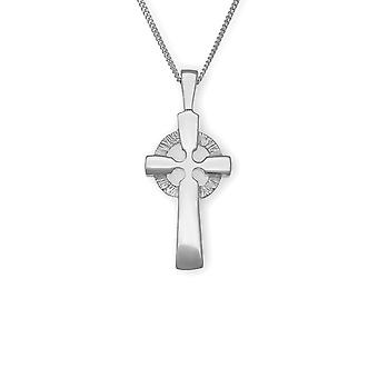 Sterling Silver Traditional Scottish St Peter Cross Hand Crafted Necklace Pendant - P342