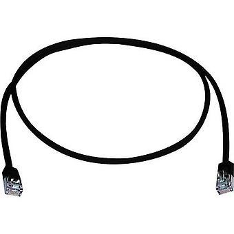 Telegärtner RJ45 Netwerkkabel, patchkabel CAT 5e F/UTP 25,00 cm Black Flame-retardant, Halogeenvrij