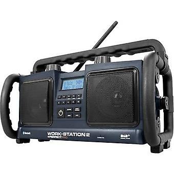 PerfectPro Workstation 2 DAB+ AUX, Bluetooth splashproof, dustproof, shockproof Black