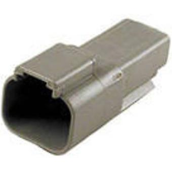 TE Connectivity DT04-2P-C015 Bullet connector Plug, straight Series (connectors): DT Total number of pins: 2 1 pc(s)