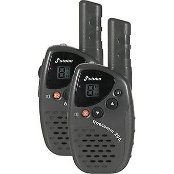 Stabo freecomm 200 20200 PMR handheld transceiver 2-piece set
