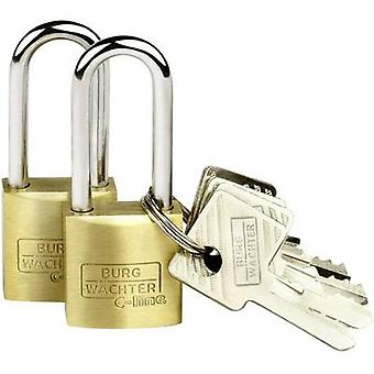Burg Wächter 2er Set Duo 222 20 26 SB Padlock Brass Key