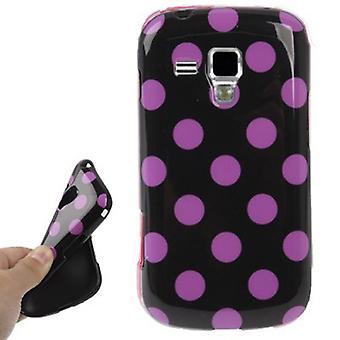 Suojakotelo TPU huomauttaa tapauksessa mobiili Samsung Galaxy S duos S7562 musta / pinkki