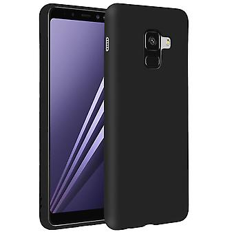 Forcell case for Samsung Galaxy A8, soft touch cover, silicone TPU case - Black