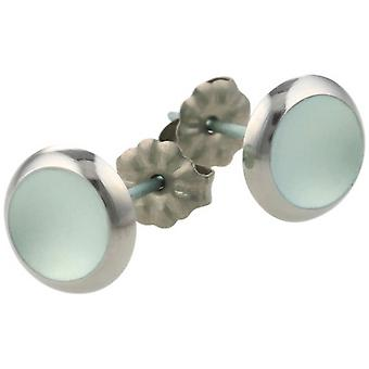 Ti2 Titanium Stud Earrings - Sky Blue