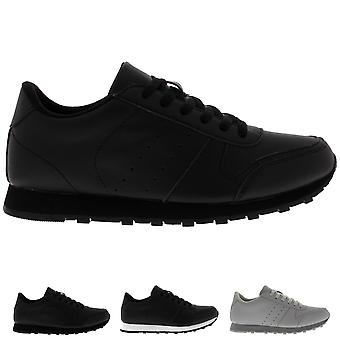 Mens Gym Work Out Fitness Low Top Flat Casual Lace Up Casual Trainers UK 6-14