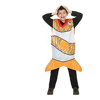 Dierlijke kostuums kinderen oranje vis kostuum