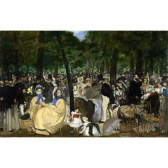 Music in the Tuileries,Edouard Manet,60x40cm