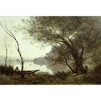 THe boatman of Mortefontaine, Jean Baptiste Camille Corot, 60x40cm