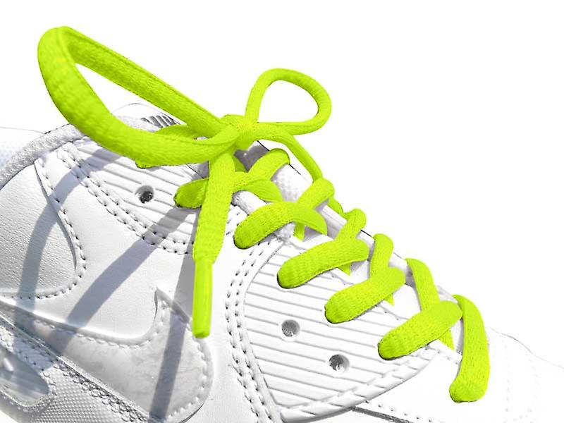 Neon Yellow Oval Sports Laces