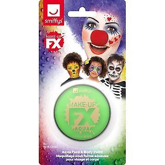 Smiffys Make-Up FX, limegrøn, Aqua ansigt og krop maling, 16ml, vandbaseret