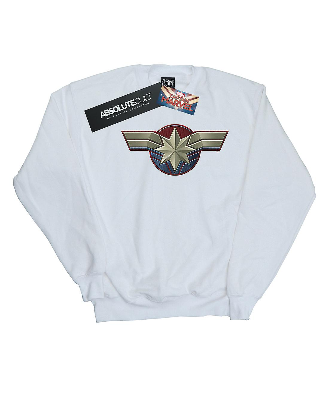 Marvel Girls Captain Marvel Chest Emblem Sweatshirt
