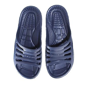 BECO Navy Pool/Sauna Slippers for Men