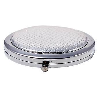 Compact Round Make-Up Mirror Silver