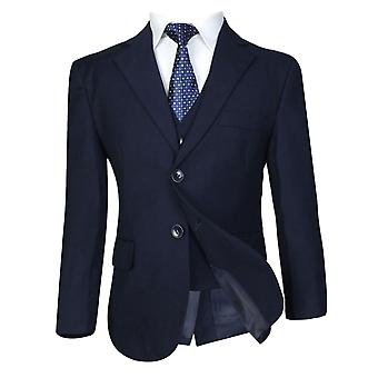 Italian 5 PC Navy Boys Suit, All in one Page Boy Wedding Prom Communion Suit
