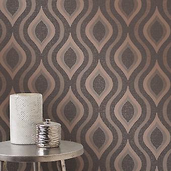 Retro Wallpaper géométriques impression paillettes métalliques Quartz beau Decor 3 couleurs