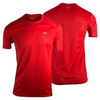 RVCA Mens VA Sport Outpost Training Shirt - Red - mma gym bjj